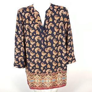 Rise + olive tunic blouse paisley